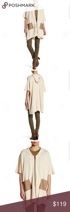 NWT Walter Baker Michelle Hooded Poncho, Size S Attached hood, Front zip closure, Short poncho sleeves, 2 front pockets, Knit construction, Color Heather Oat/ Light Taupe, Size S.   Make an offer  60% acrylic, 30% Nylon, 10% wool Walter Baker Jackets & Coats