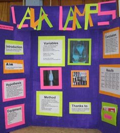 Lava Lamp Experiment - Science Fair Board | MADE - It's a Theme ...