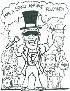 Bullying Coloring Pages Free Printable Worksheets For Kids And
