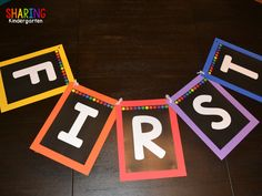 Sharing Kindergarten shows you how to make a banner