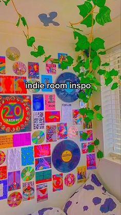 Indie Bedroom, Indie Room Decor, Cute Bedroom Decor, Room Design Bedroom, Girls Bedroom, Bedrooms, Hipster Room Decor, Bedroom Ideas, Chambre Indie