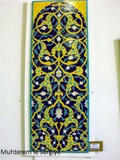 Arabic Pattern, Iranian Art, Turkish Art, Earthenware, Islamic Designs, Ornaments, Tiles, Painting, Colour