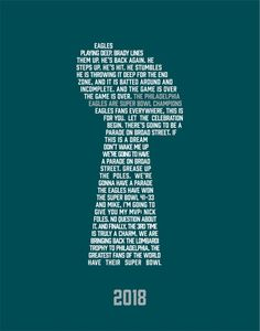 The 2018 Super Bowl clinching moment for the Philadelphia Eagles. Philadelphia Eagles Wallpaper, Philadelphia Eagles Super Bowl, Philadelphia Eagles Merchandise, Nfl Philadelphia Eagles, Superbowl Champions, Eagles Nfl, The Game Is Over, Education Quotes, Nfl Sports