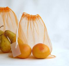 Tulle produce bags...a great way to go green:)