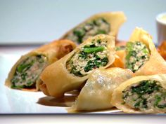 Chicken and Broccoli Rabe Summer Rolls Recipe : Anne Burrell : Food Network - FoodNetwork.com
