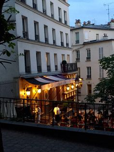 Our hotel was next door to this lovely cafe. Lying in bed with open window, falling asleep to laughter and conversation mingled with the clinking of wine glasses is one of my favorite Paris memories!