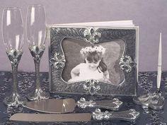 Elegant Fleur De Lis Collection Wedding Accessories Set