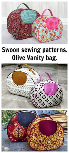 This spacious vanity bag from Swoon Sewing Patterns makes the perfect travel companion. It features an exterior slip pocket and convenient carrying handle. The sewing pattern is available as a downloadable pdf.