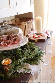 Christmas Home Tour~ Ella Claire vintage inspired Christmas decor, party decor