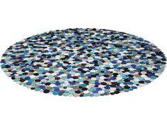 Tapis Circle multi bleu 250cm Kare Design