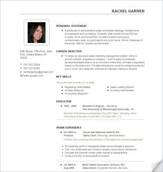 Hybrid Resume Example  Nursing School Study Tools