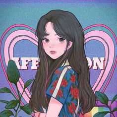 Cartoon Icons, Cartoon Art, Aesthetic Anime, Aesthetic Art, Pixiv Fantasia, Cartoon Girl Drawing, Poses References, Cute Cartoon Wallpapers, Kawaii Art