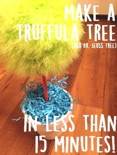 to make a Dr. These make a great addition to any kids room or Lorax themed Halloween costume! Dr Seuss Costumes, Themed Halloween Costumes, Lorax Costume, Dr Seuss Day, Dr Suess, Dr Seuss Trees, Dr Seuss Birthday Party, 2nd Birthday, Dr Seuss Nursery