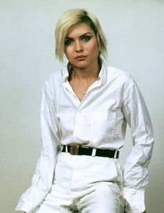 I love white on white.  So clean, crisp and minimal.   This is Debbie harry