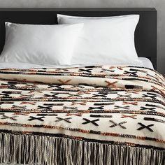 Handwoven Dorado Blanket   CB2