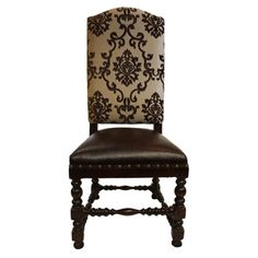 Royale Cross Embossed Crocodile Velvet Leather Old World Accent Chair Tuscan Style Chairs Pinterest Dining And
