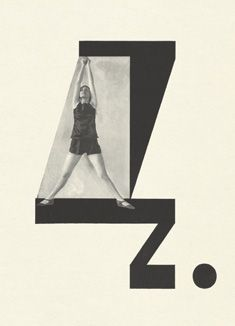 "Alphabet: 25 Postcards  By Karel Teige    ""An important landmark….one of the first conceptual artist's books"" (Photobook)  Here is the alphabet imagined as never before. Choreographed by the beautiful dancer Milca Mayerová into a brilliant photo-ballet in twenty-four hypnotic poses. Each move in the dance is made to the visual counterpoint of Karel Teige's astonishing typographic music: as angular as jazz, as syncopated as Stravinsky!"