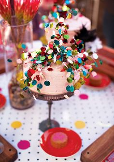 Confetti wedding cake. Reminds me of the cakes my mom used to make me for my birthday.