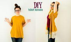 DIY Kimono From a T-Shirt (No-Sew Option) More