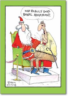 Box of 12 'One Good BM Boxed Christmas' Hilarious Greeting Cards x Inch, Merry Xmas Note Cards with Old Age Humor Cartoon, Stationery for Elderly, Parents, Grandparents w/Envelopes Funny Christmas Cartoons, Funny Christmas Pictures, Christmas Jokes, Funny Christmas Cards, Funny Cartoons, Funny Humor, Holiday Cards, Funny Stuff, Xmas Cards