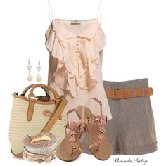 """""""Belted Shorts"""" by brendariley-1 on Polyvore"""