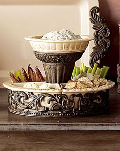 Chip & Dip and Serving Tray by GG Collection at Horchow.