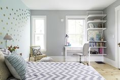 When interior designer Ana Bonilla of AnaVera Design was tasked with designing a bedroom for a ten-year-old girl, she really took in the preteen's fun, funky and sweet personality! There was only one