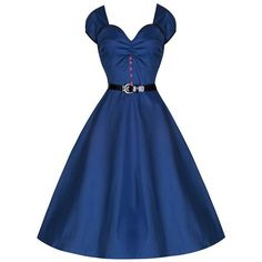 Blue Audrey Hepburn Inspired Dress 50s Vintage Cotton Short Sleeve... ($40) ❤ liked on Polyvore featuring dresses, women dresses, button dress, short sleeve dress, blue vintage dress and belt dress