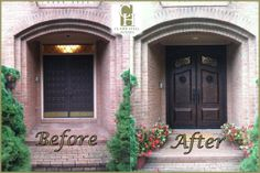 Wood doors replaced with solid Clark Hall Iron Doors!