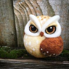 "68 Likes, 5 Comments - The Lady Moth ART (@theladymoth) on Instagram: ""Needle felted owl #needlefelting #felt #felting #owleyes #owl #brownowl #hornedowl #art #sculpture…"""