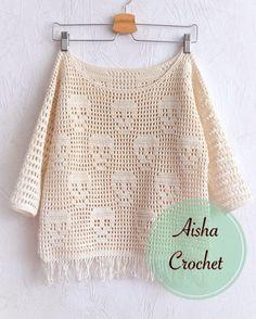 Crochet skulls sweater Mehr