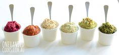 Healthy Dips For Kids - One Handed Cooks