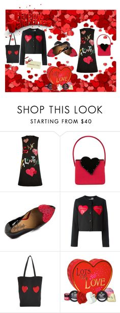 """V-DAY CARD for POLYFRIEND !"" by czarabella ❤ liked on Polyvore featuring Dolce&Gabbana, Yves Saint Laurent, TaylorSays, Love Moschino, Marc Jacobs, women's clothing, women, female, woman and misses"
