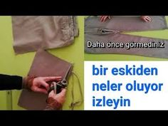 PANTOLONLA İNANILMAZ GERİ DÖNÜŞÜM - YouTube Texts, Youtube, Diy And Crafts, Language, Upcycled Clothing, Languages, Captions, Youtubers, Youtube Movies