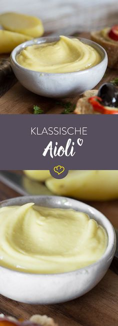 Klassische Alioli mit Pellkartoffeln und Tapas Whether with fish, potatoes or toasted bread – Aioli is universally applicable and always tastes good. Tapas Party, Party Snacks, Tapas Recipes, Sauce Recipes, Flamenco Festival, Good Food, Yummy Food, Food Inspiration, Food Porn