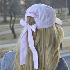 How cute is this seersucker hat by Lauren James?! We love it here at Caroline's boutique in Aiken!