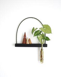 wall vase, hanging shelf, hanging vase, mini shelf, test tube, wall vase, reclaimed wood, hanging plant, minimalist decor, minimal by kirraleeandco on Etsy https://www.etsy.com/au/listing/510131668/wall-vase-hanging-shelf-hanging-vase