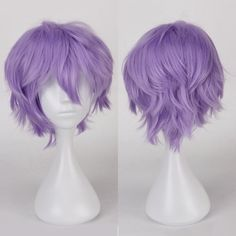 Multicolor Short Side Bang Fluffy Straight Cosplay Synthetic Wig #jewelry, #women, #men, #hats, #watches, #belts