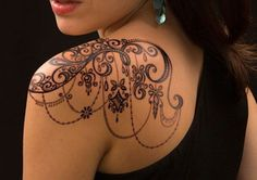 Lace Shoulder Tattoo, Shoulder Tattoos For Women, Arm Tattoos For Women, Lace Tattoo Design, Henna Tattoo Designs, Tattoo Designs For Women, Tattoo Ideas, Body Art Tattoos, New Tattoos