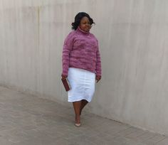 White Skirt and Pink Knit outfit Spring Day, White Skirts, What I Wore, African Fashion, Lace Skirt, Lifestyle, Knitting, Pink, Outfits