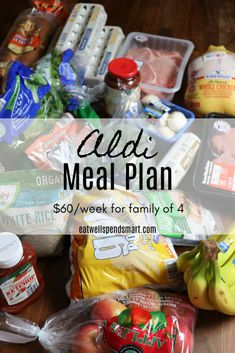 Aldi meal plan for by shopping at Aldi What one family ate for a week including breakfast lunch dinner and snacks for a family of four one with allergies Family Meal Planning, Budget Meal Planning, Cooking On A Budget, Weekly Meal Plan Family, One Week Meal Plan, Food Budget, Budget Plan, Cheap Meal Plans, Aldi Meal Plan