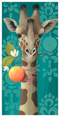 Art Collections — Heather Gauthier Art Dream Illustration, Creative Illustration, Graphic Illustration, Illustrations, Giraffe Painting, Africa Art, Animal Heads, Animal Drawings, Painting Inspiration