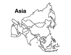 Outline Map Of Asia With Countries Labeled Blank For | Passport Club ...
