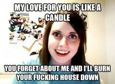 Laughed too hard at this lol and not what i was expecting wow overly attached girlfriend strikes again Funny Quotes, Funny Memes, Hilarious, Jokes, Overly Attached Girlfriend, Lol, Laughing So Hard, You Funny, Just For Laughs