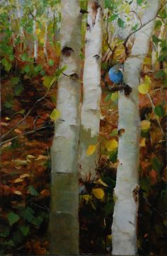 Meet Kathy Anderson and learn about her still-life paintings featuring flowers, gardens, and other nature scenes. Landscape Art, Landscape Paintings, Floral Paintings, Oil Paintings, Dubai Miracle Garden, Aspen Trees, Birch Trees, Magic Garden, Autumn Painting