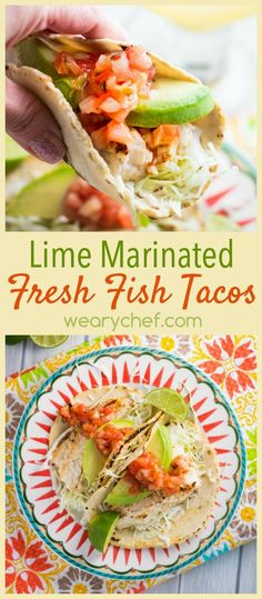 These slightly spicy fish tacos come together in about 15 minutes!