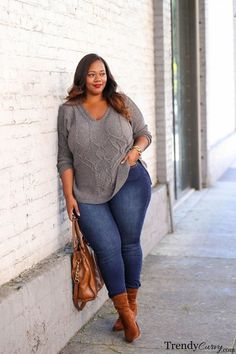 Plus Size Winter Outfit Ideas Collection beautiful plus size women winter outfit idea nice as work Plus Size Winter Outfit Ideas. Here is Plus Size Winter Outfit Ideas Collection for you. Plus Size Winter Outfit Ideas pin on plus size clothes. Outfits Plus Size, Plus Size Winter Outfits, Winter Outfits Women, Curvy Outfits, Mode Outfits, Fashion Outfits, Look Plus Size, Curvy Plus Size, Plus Size Jeans