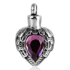 Heart Shape Urn Necklace Pendant Memorial Ash Keepsake Cremation Jewelry…