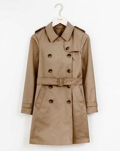 2e7b2d1814de9 22 Classic Trench Coats You'll Wear Forever Brown Trench Coat, Classic  Trench Coat