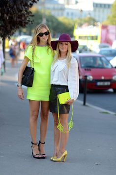 A great way to hop onto the neon trend for spring/summer without appearing like a preschooler.